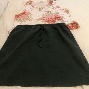 Green Linen Skirt SZ Xlg